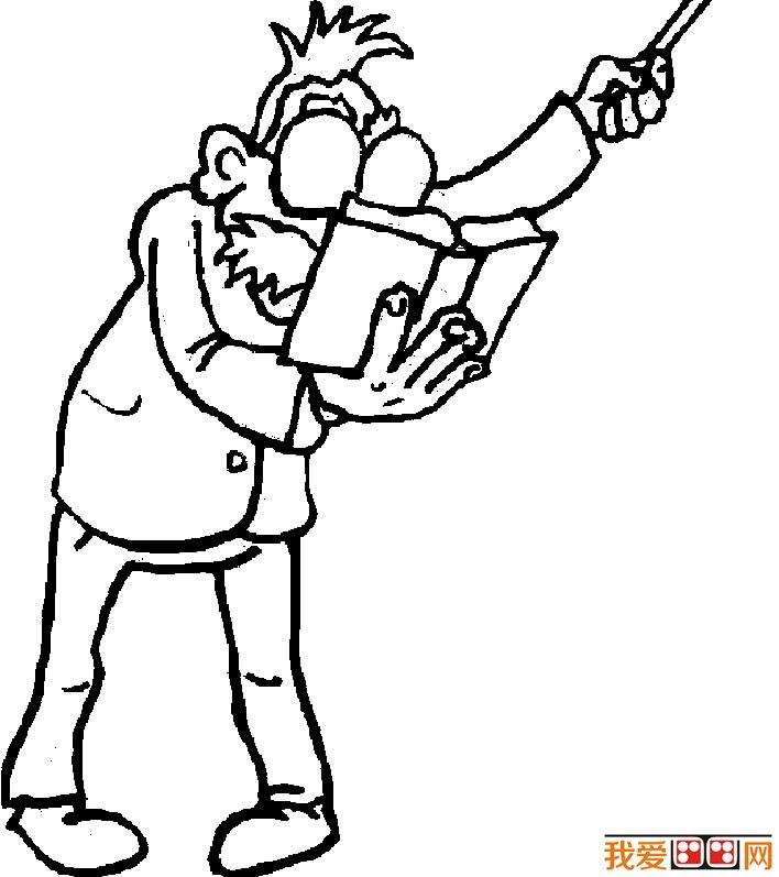 老师简笔画图片20副:男老师简笔画,女老师简笔画(2)图片