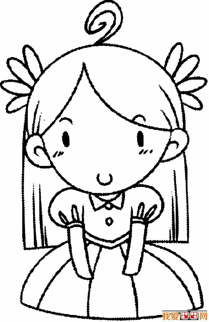小女孩简笔画图片5