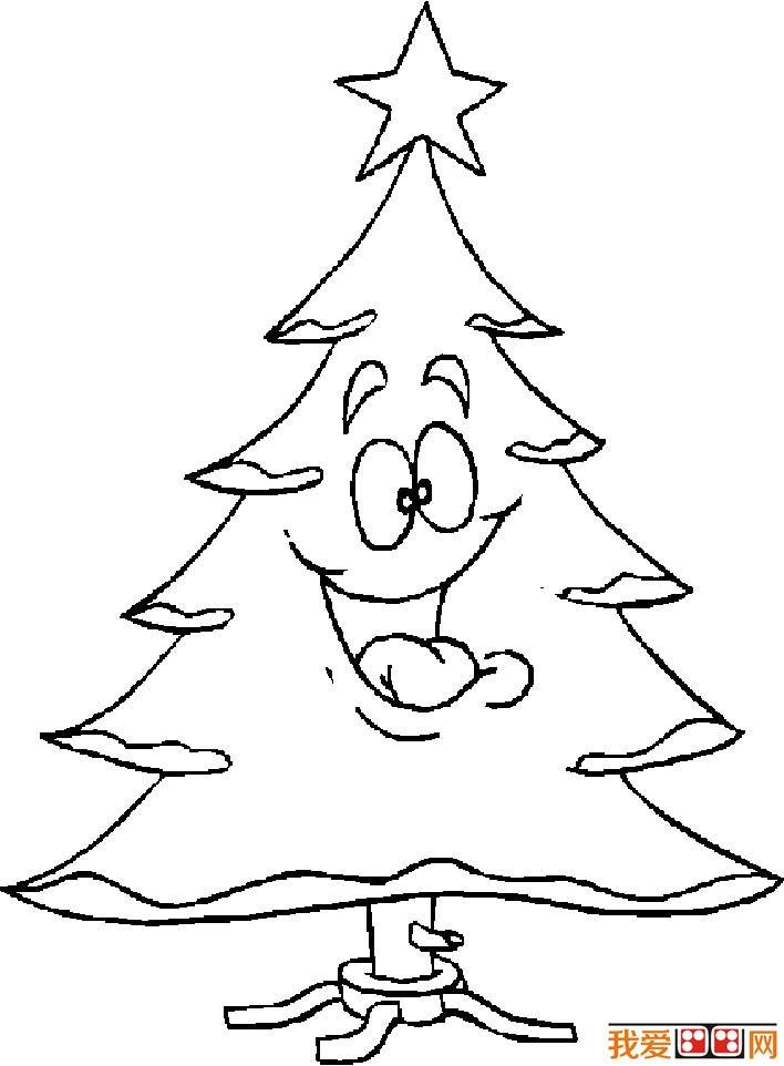 圣诞树简笔画图片大全,各种各样的简笔画圣诞树(6)