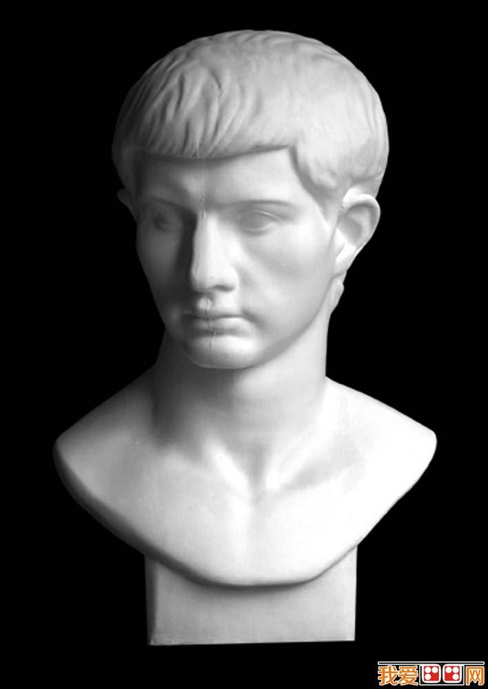 罗马青年石膏像,罗马青年素描头像