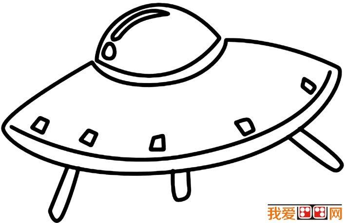 宇宙飞船简笔画图片大全,各种各样的宇宙飞船简笔画(3