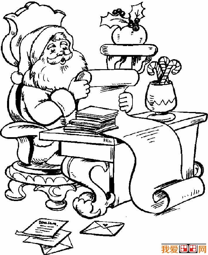 圣诞老人简笔画图片大全 各种各样的简笔画圣诞老人(3