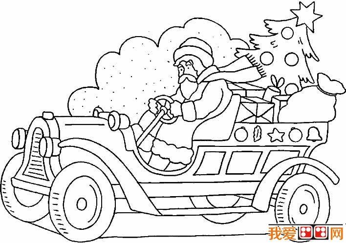 圣诞老人简笔画图片大全 各种各样的简笔画圣诞老人(5