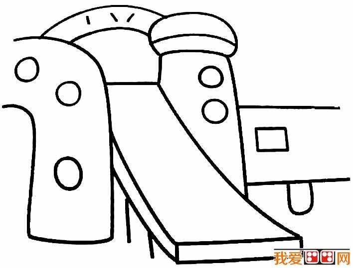 滑滑梯简笔画,幼儿园滑滑梯简笔画图片大全 2