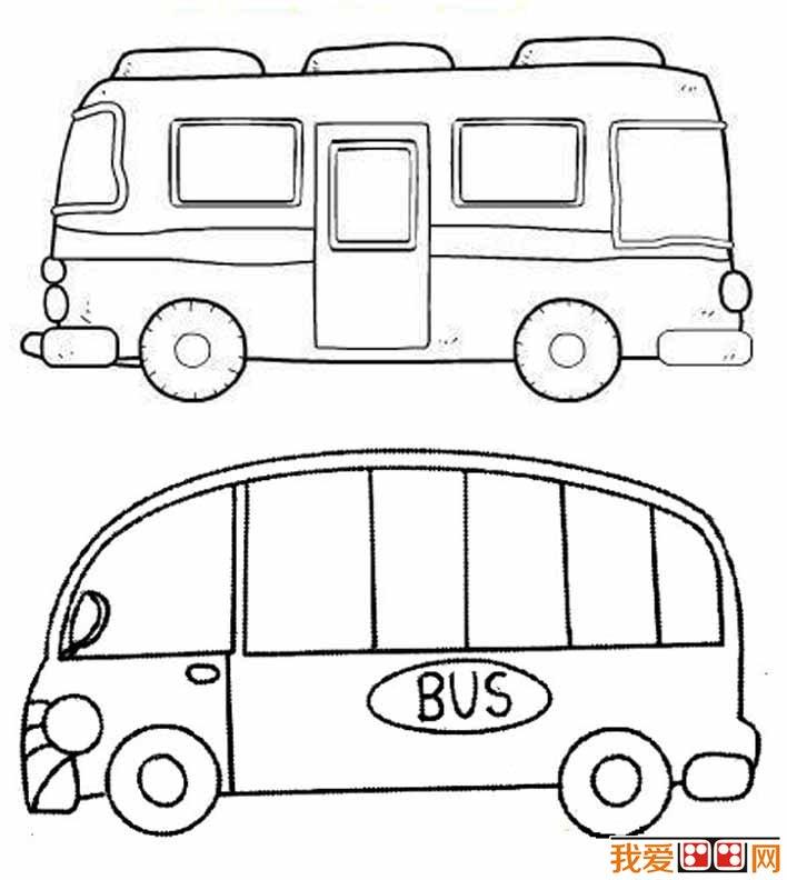 公共汽车简笔画图片大全 各种各样的公交车简笔画(3)