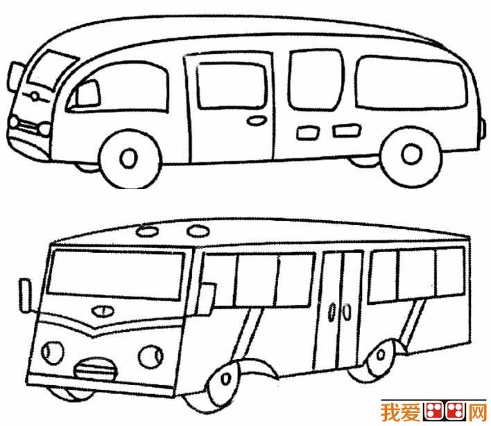 交通工具简笔画之公共汽车简笔画图片大全:各种各样的公交车简笔画(06)  交通工具简笔画之公共汽车简笔画图片大全:各种各样的公交车简笔画(07)