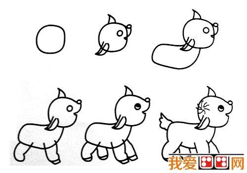 动物简笔画:各种小动物简笔画教程大全(8)