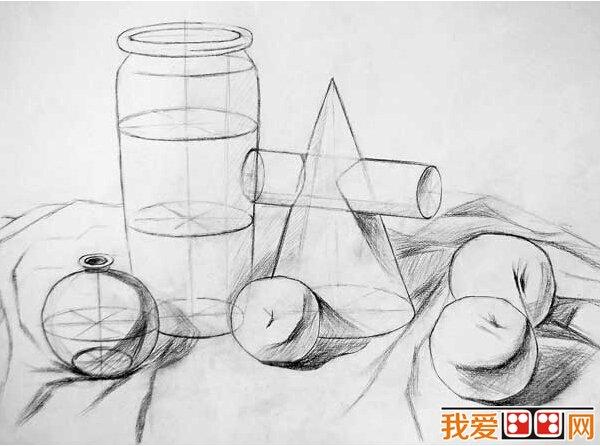 圆柱体的画法图片
