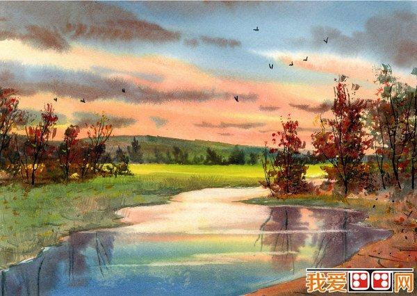 水彩画教程:水彩风景画的绘画技法