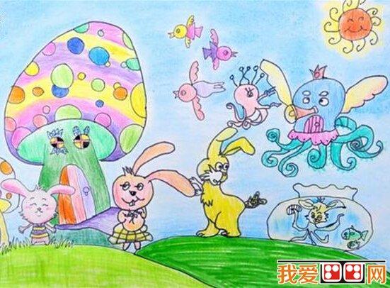儿童画水彩画作品 动物乐园 系列欣赏