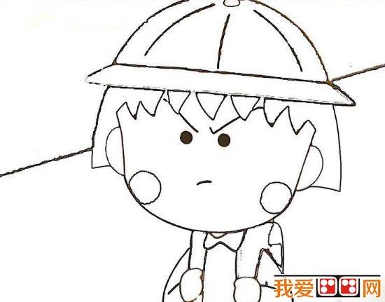 简笔画教程:樱桃小丸子的简笔画