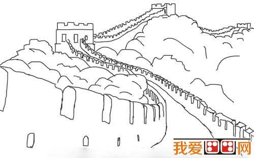 小学生简笔画:长城的简笔画教程_儿童画教程_学画画
