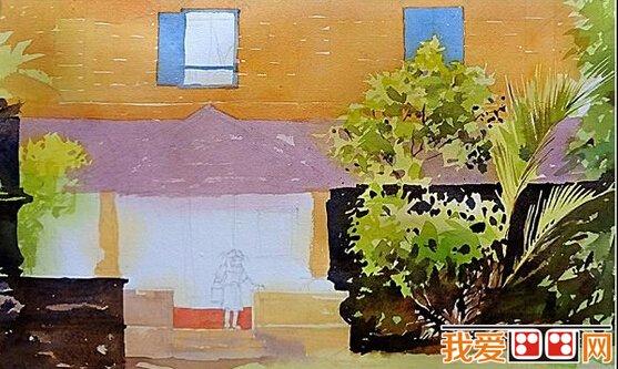 水彩画教程:风景水彩画示范教程(4)