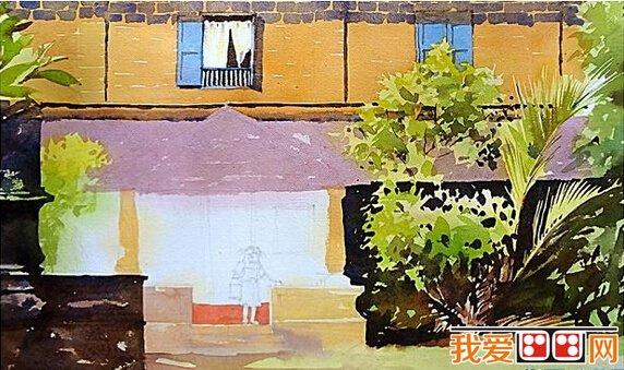 水彩画教程:风景水彩画示范教程(5)