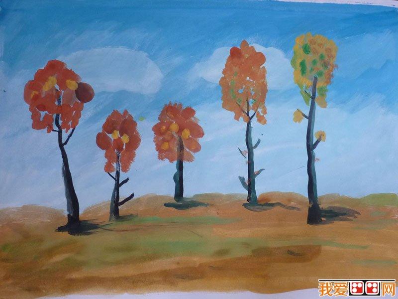 学画画 儿童画教程 儿童水彩画     儿童水彩画——枫树 第