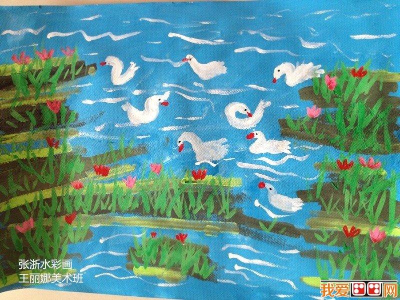 儿童水彩画:家园美景儿童水彩画作品欣赏(6)