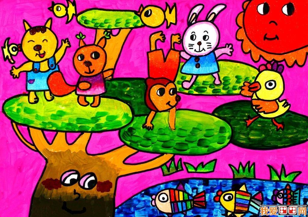 儿童水彩画:动物儿童水彩画作品欣赏