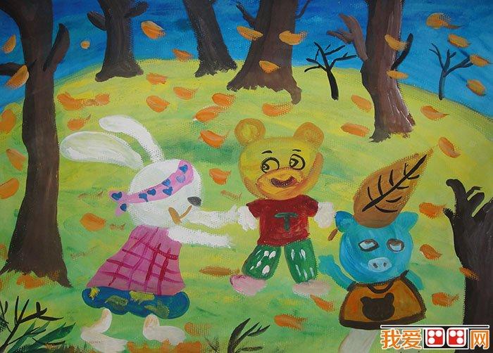 儿童水粉画:可爱的动物水粉画作品欣赏(3)