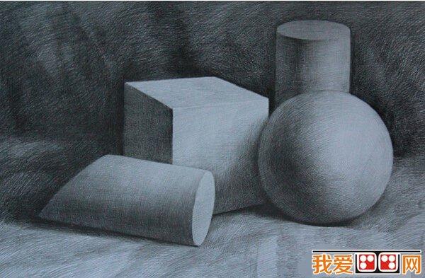 静物素描几何体作品欣赏(2)