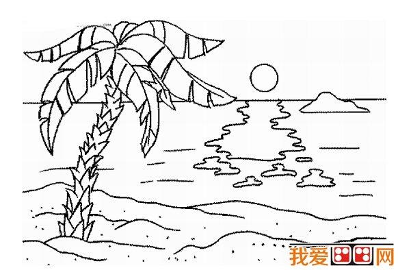 儿童简笔画作品:海边风景简笔画欣赏(3)