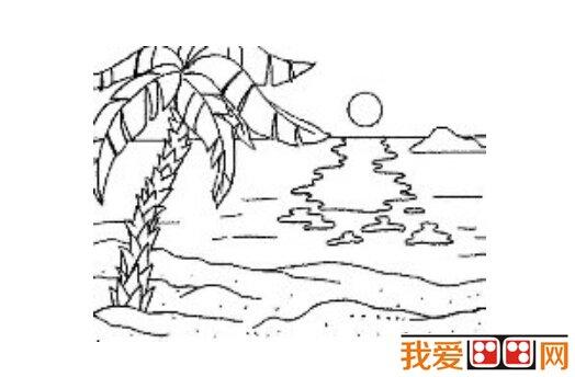 儿童简笔画作品:海边风景简笔画欣赏(5)