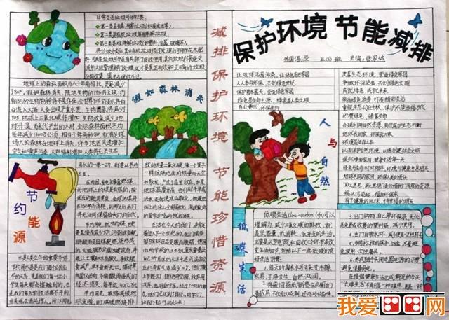 小学生手抄报:环保手抄报作品欣赏(6)