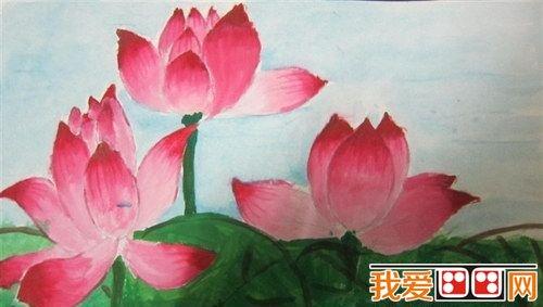 儿童画作品幼儿水彩画水彩花卉画