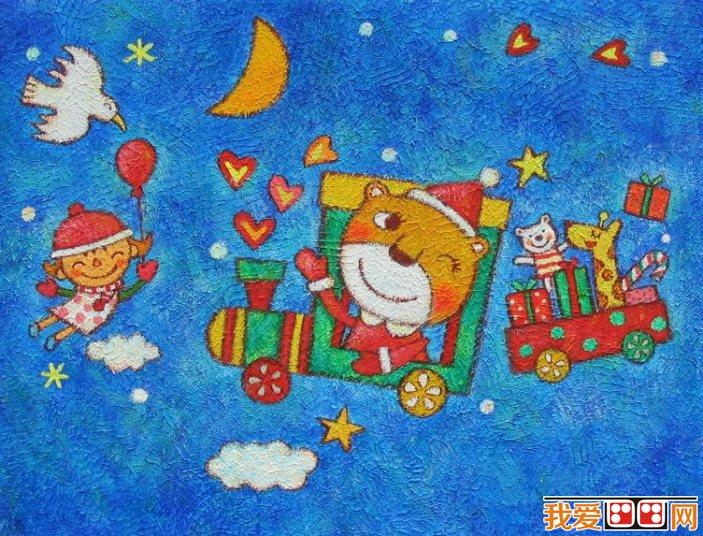儿童画欣赏:儿童蜡笔画可爱的动物(3)