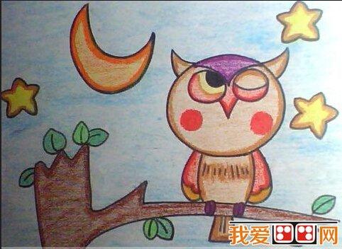儿童画欣赏:儿童蜡笔画可爱的动物(6)