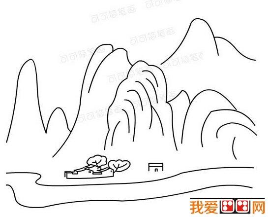 学画画 儿童画教程 简笔画     通过创作风景简笔画,可增加对大自然美