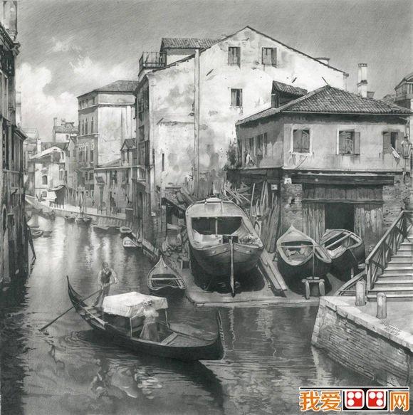 丹尼斯·切尔诺夫风景素描画作品欣赏(2)