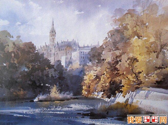 水彩画知识:水彩风景画_水彩画教程_学画画_我爱画画