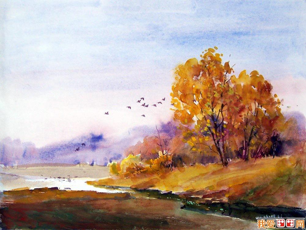 逐步完成了水彩风景画形成的全面过程
