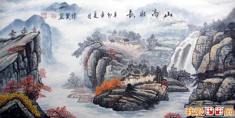 国画教程:中国写意山水画的着色方法