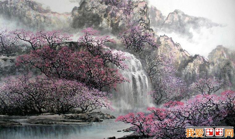 国画教程:中国写意山水画的着色方法(2)