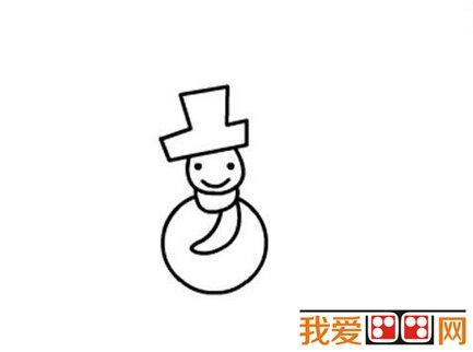 雪人儿童简笔画教程步骤详解(3)