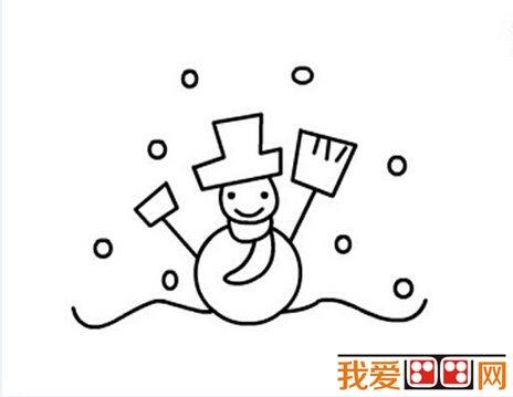 雪人儿童简笔画教程步骤详解(5)