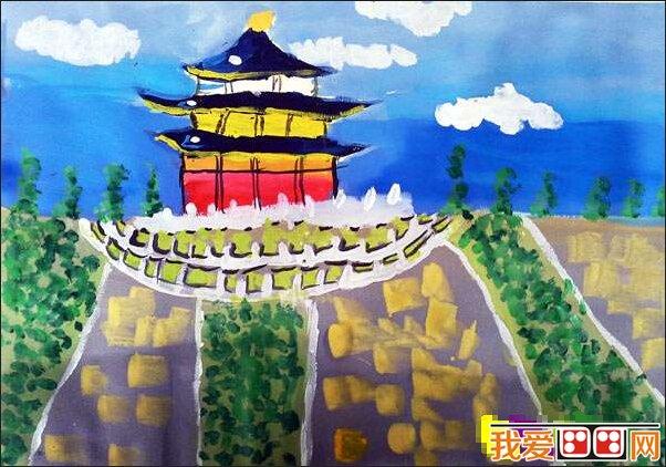 儿童水彩画之国庆节作品欣赏(2)图片