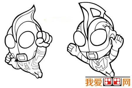 """学画画 儿童画教程 简笔画     《奥特曼》系列是日本""""特摄之神""""的圆"""