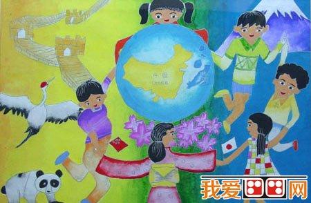 学画画 儿童画教程 儿童水彩画     在我们的地球上面还是有的国家在