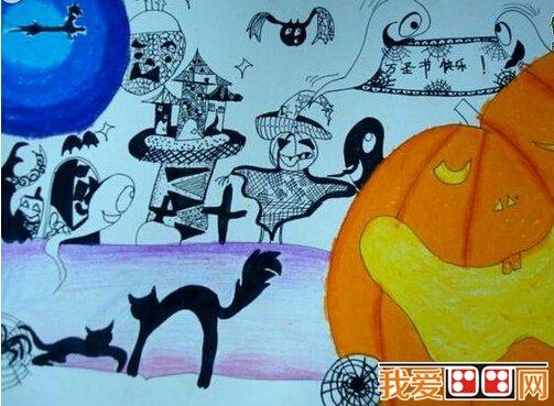 儿童水彩画 万圣节儿童水彩画作品欣赏 3