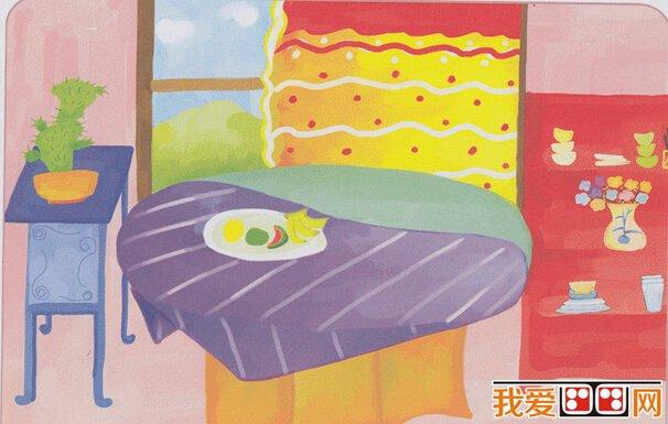 儿童水粉画 我的房间儿童水粉画作品欣赏 3