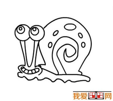 儿童简笔画教程:蜗牛简笔画步骤详解(3)