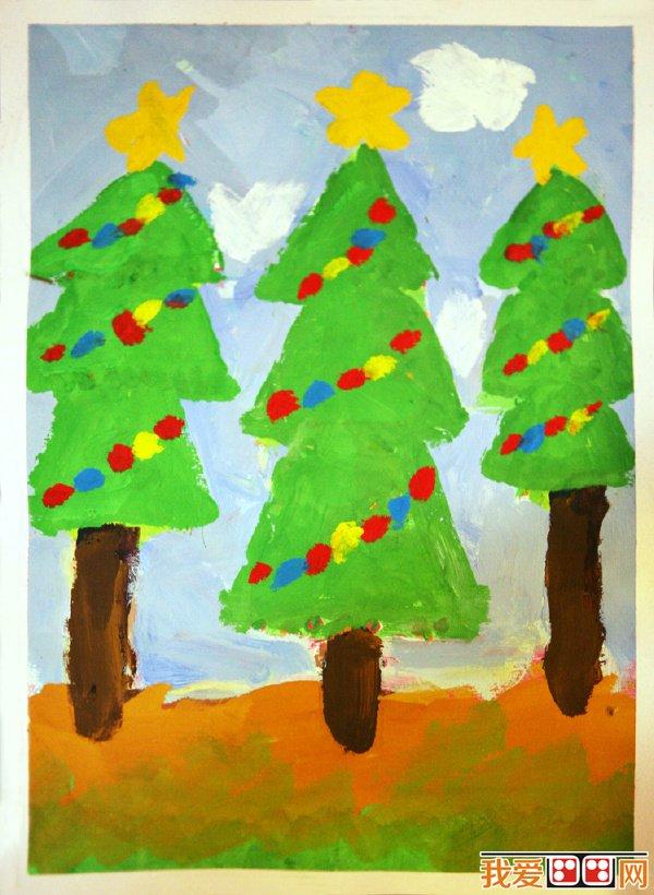 儿童画圣诞树优秀作品欣赏(3)