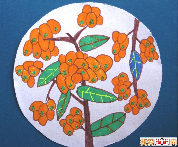 丰收的秋天儿童画作品欣赏
