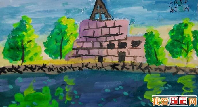 美丽的家乡儿童水粉画作品欣赏(2)