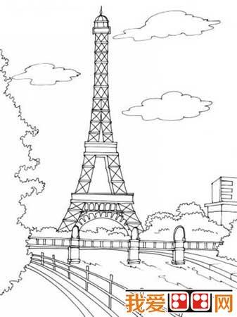 埃菲尔铁塔于1889年建成,得名于设计它的著名建筑师,结构图片