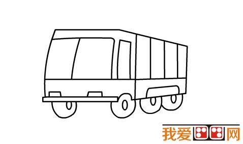 简笔画教程 消防车简笔画教程图解