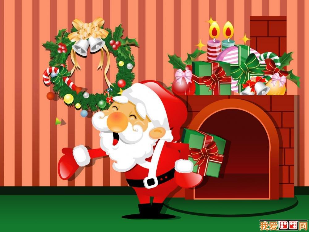 圣诞节主题可爱卡通画图片(3)_儿童画教程_学画画_我
