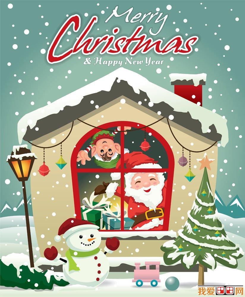 圣诞节主题可爱卡通画图片(5)_儿童画教程_学画画_我